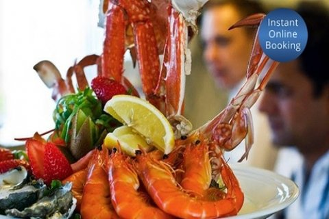 Seafood Platter and Bottle of Wine for Two ($99) or Four People ($198) at Altitude 1148,...