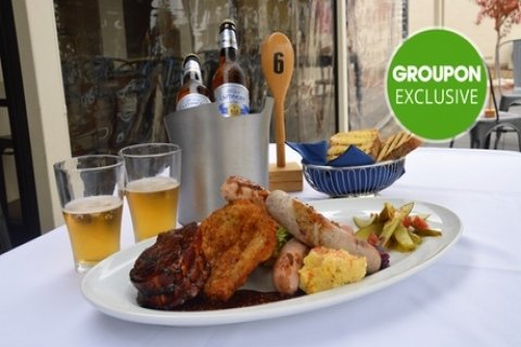 German Feast with Side Dish for Two ($29) or with Beer for Four People ($80) at German...