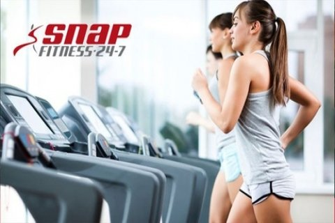 One-Month Gym Membership for One ($10) or Two People ($15) at Snap Fitness, Three...