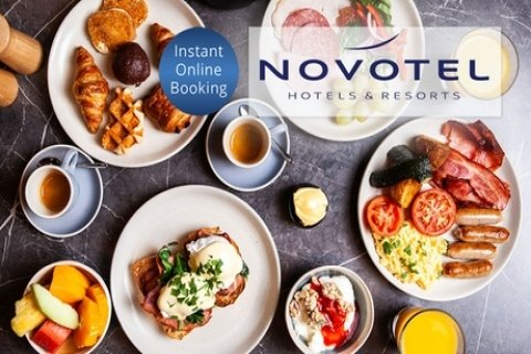 5* Full Buffet Breakfast with Coffee & Juice for 1 ($19.50) or 2 ($39) at Novotel...