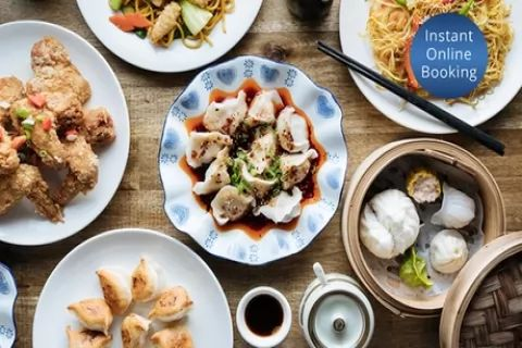 5-Course Dumpling Feast with Tea for Two ($29) or Four People ($58) at Juicy Dumplings on...