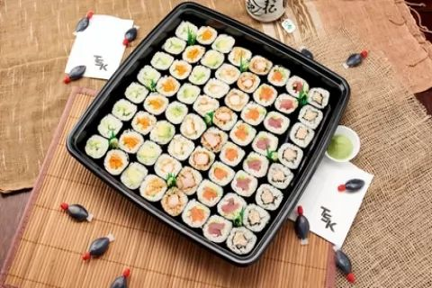 56-Piece Maki ($23) or 48 - Piece Nigiri & Inside-Out Platter ($32), or 57-Piece Nigiri,...