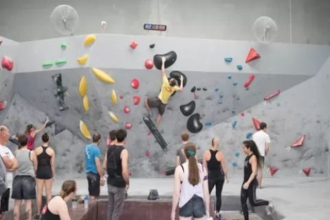 Bouldering Day Pass + Shoe & Chalk Hire for One ($9), Two ($18), Four People ($36) at The...